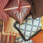 upholstered pillows