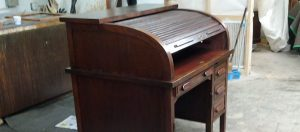 Restored antique roll-top desk