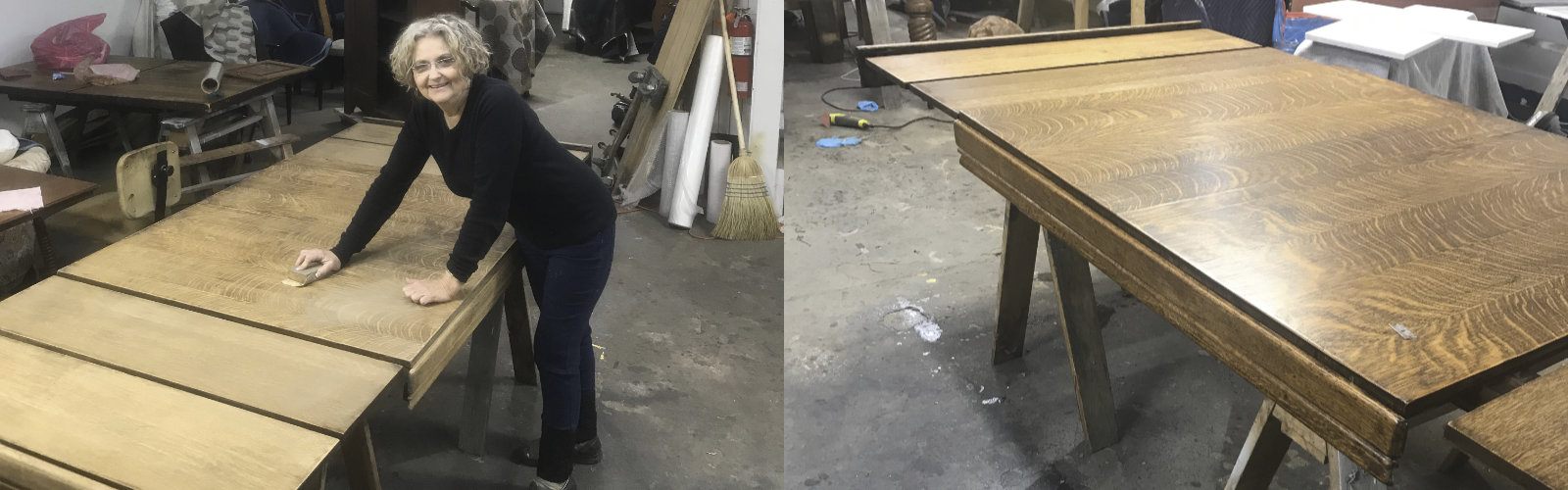 Restoring A 1950's Oak Table With 5 Leaves