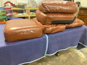 leather reupholster